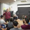 Mariano Barroso en una de las clases del Master de Cine
