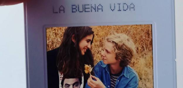 """Diapositiva del rodaje de """"La buena vida"""", de Trueba"""