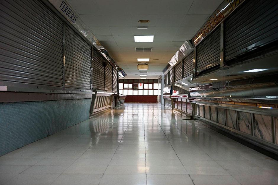 El mercado de La Elipa cerrado TAMARA ARRANZ